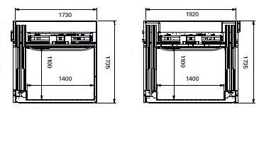 Kabina GL cut out sizes EN 05